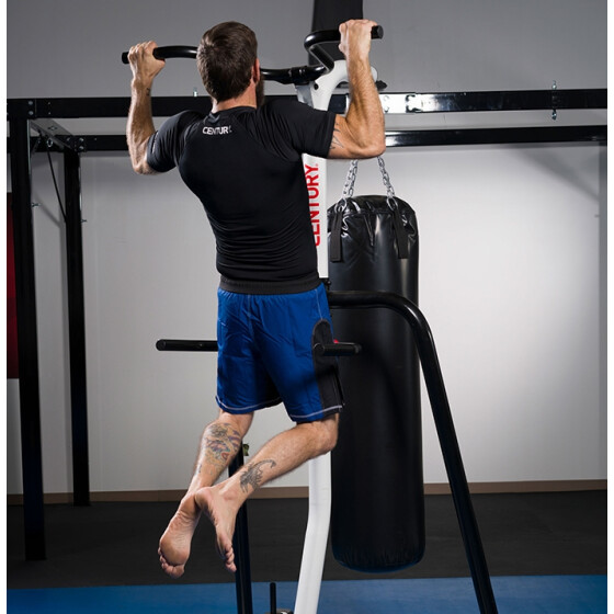 Punching Bag STAND 3-Station Boxing Martial MMA Heavy Duty Workout Fit Defense